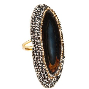 MAJARAJI DARK BROWN RING