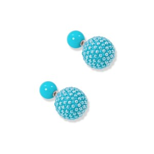 Silver Stud Turquoise Earrings