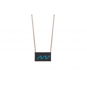 RECTANGLE DARK NECKLACE