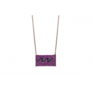 RECTANGLE PINK NECKLACE