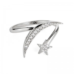 SILVER STAR & MOON RING