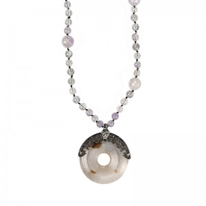 ROUND AGATE NECKLACE