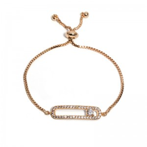 SAFETY PIN PULL-TIE BRACELET
