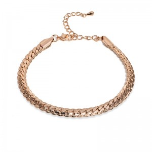 OLD SCHOOL GOLD CHAIN BRACELET