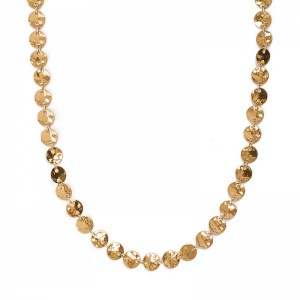 GOLD PLATED COIN COLLAR NECKLACE