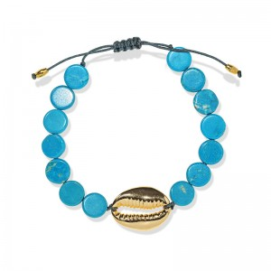 TURQUOISE AND GOLD PLATED SHELL