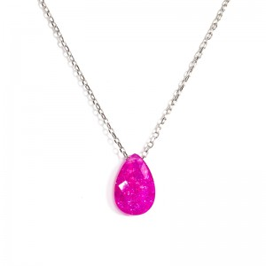 OVAL SHAPPED FUCHSIA NECKLACE