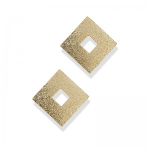 FROSTED SQUARE STUDS