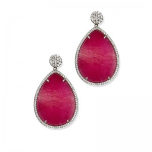 FUCHSIA DROP EARRINGS