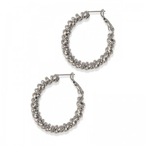 "TEXTURED ""SPRING"" HOOPS"