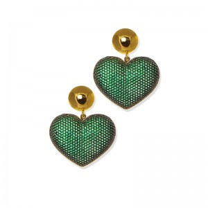EMERALD HEART EARRINGS