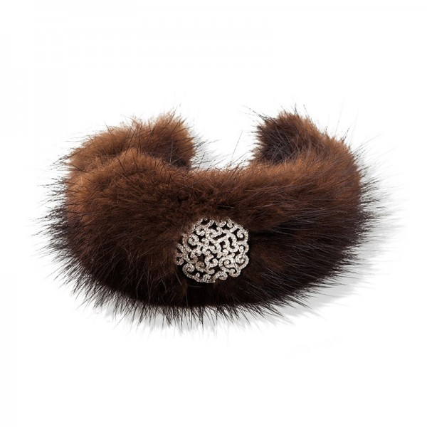 BROWN VISON FUR BRACELET