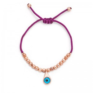 PURPLE EVIL EYE CORD BRACELET