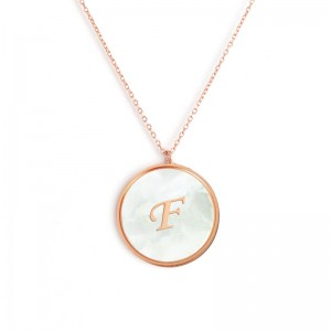 """F"" MONOGRAM NECKLACE"