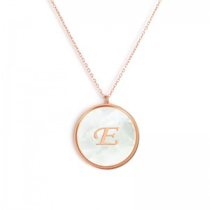 """E"" MONOGRAM NECKLACE"