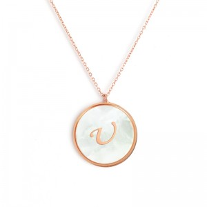 """U"" MONOGRAM NECKLACE"
