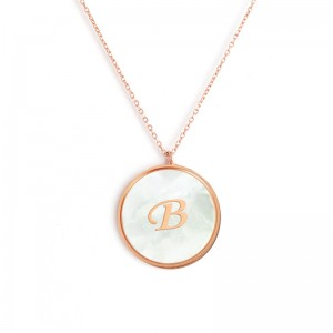 """B"" MONOGRAM NECKLACE"