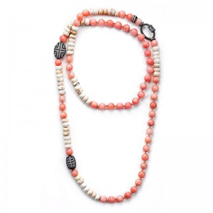 PINK HOWLITE NECKLACE
