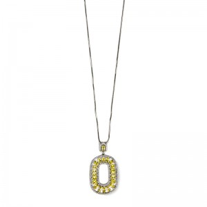 YELLOW & WHITE SILVER NECKLACE