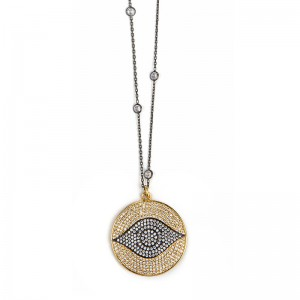 GOLDEN EVIL EYE NECKLACE