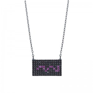 RECTANGLE BLACK NECKLACE
