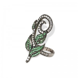 GREEN LEAVES RING